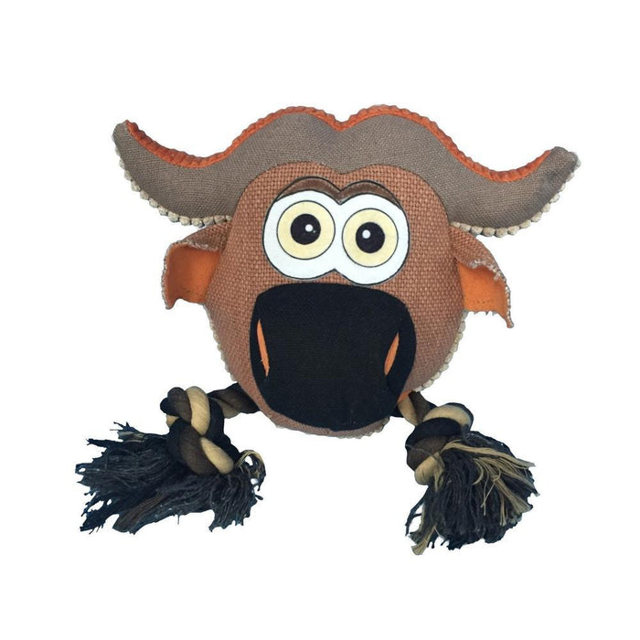 "8"" Safari Cow Animal Toy with Ropes"