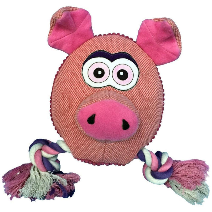 "8"" Safari Pig Animal Toy with Ropes"