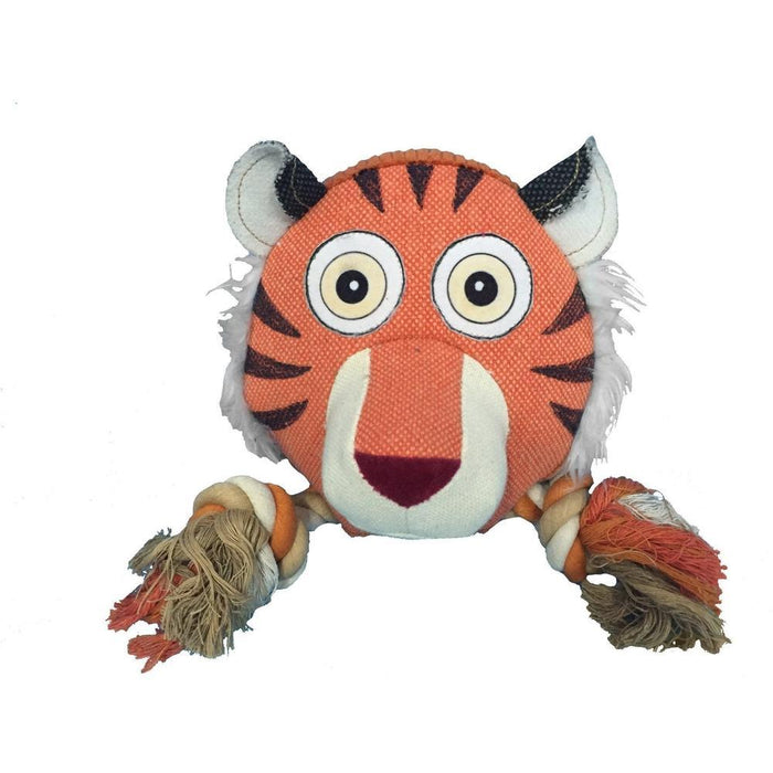 "8"" Safari Tiger Animal Toy with Ropes"
