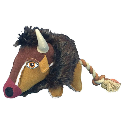 "12"" Wild Buffalo Animal Dog Toy"