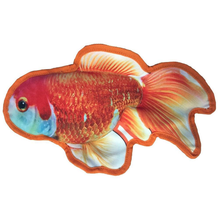 "12"" Tropical Goldfish Dog Fish Toy"