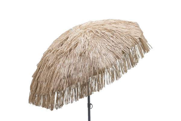 6ft Whiskey Brown Palapa Tiki Umbrella for Patio