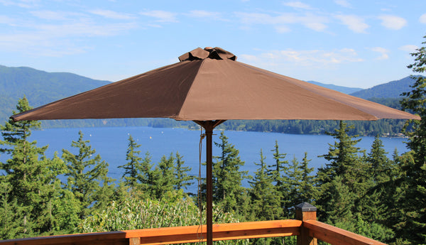 Classic Wood 9 ft Market Patio Umbrella