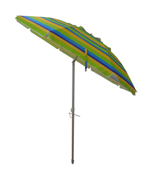 7ft Striped Beach Umbrella with Carry Bag