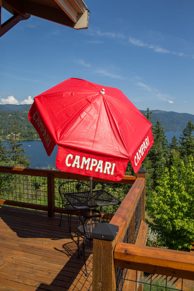 6 ft Campari Vinyl Umbrella
