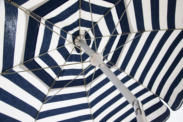 6ft Italian Acrylic Striped Umbrella