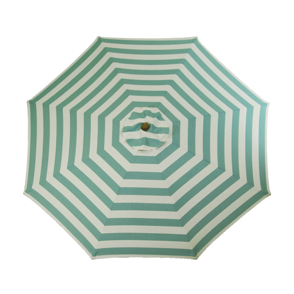 Classic Wood 9 ft Stripe Round Market Umbrella