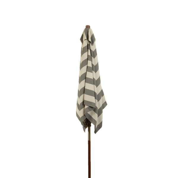 6.5 ft Classic Wood Square Market Patio Stripe Umbrellas