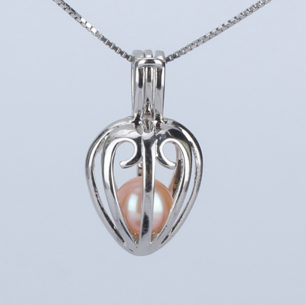 Loving Heart Akoya Pearl Pendant Necklace