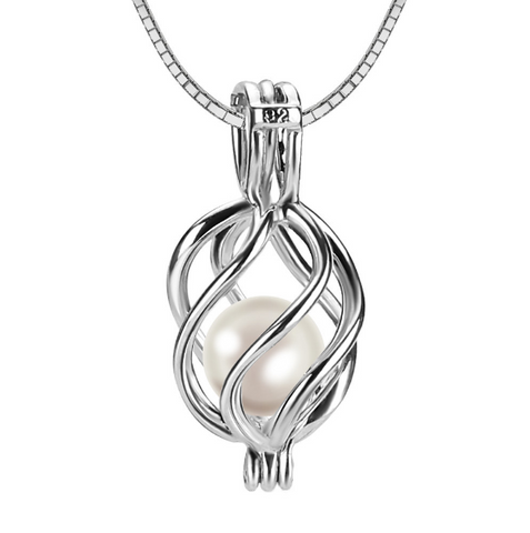 Fashion Twisted Akoya Pearl Pendant Necklace