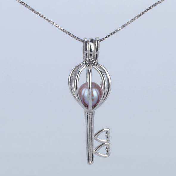 Unlock My Heart Akoya Pearl Pendant Necklace
