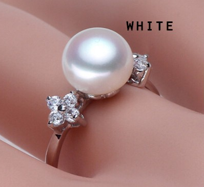 Nan Freshwater Pearl White Gold Plated Ring