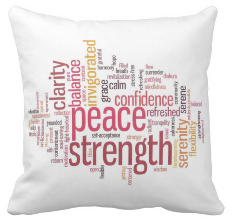 Zen Inspirational Words Pillow Cover