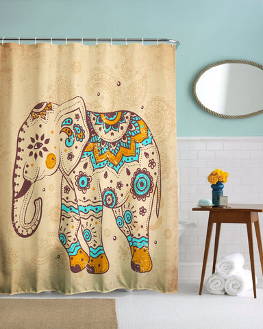 Chang Elephant Shower Curtain