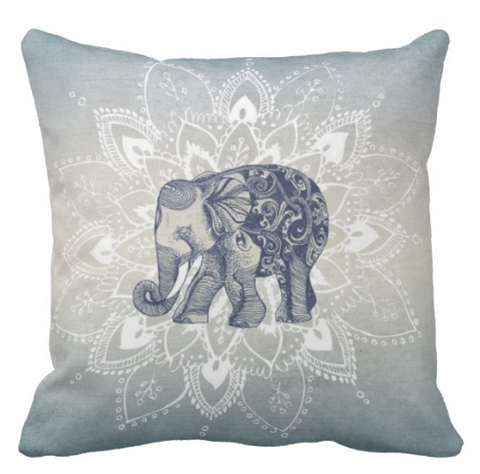 Chandra Elephant Pillow Cover SALE!