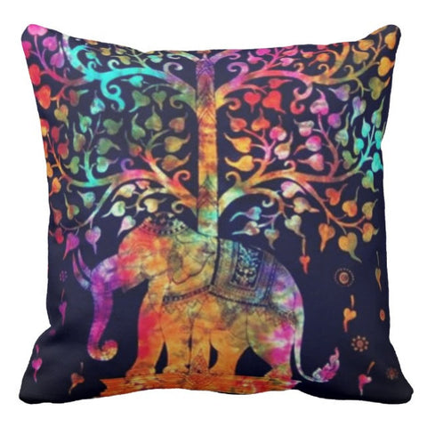 Hathini Elephant Under The Tree of Life Pillow Cover SALE!