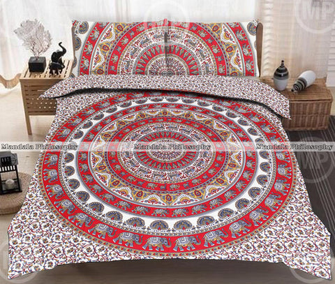 Bagha Queen Size Mandala Bedding