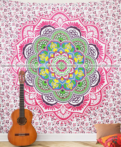 Rainbow Queen Size Mandala Cover