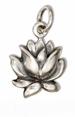 Small Blooming Lotus Blossom Charm