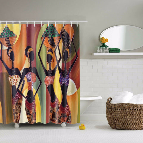 African Woman Art  Shower Curtain
