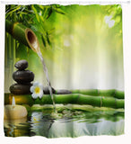 Water Zen Shower Curtain