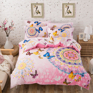 Bohemian Butterflies Duvet Cover Set