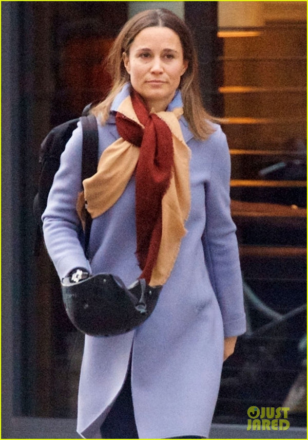 Pippa Middleton with stylish Sawako cycling helmet