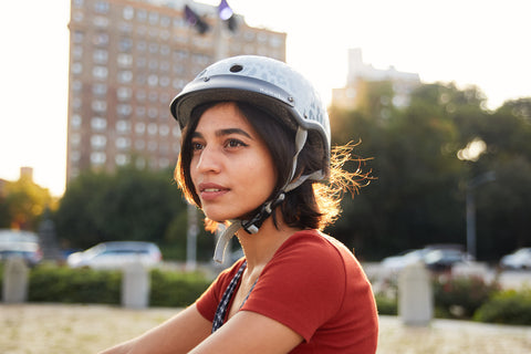 Madison gray bicycle helmet in Brooklyn