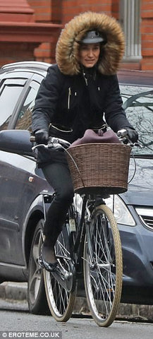 Pippa Middleton younger sister of Kate Middleton cycle through london
