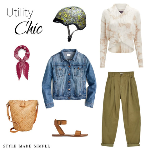 Utility Chic style by Style Made Simple inspired by Sawako floral helmet