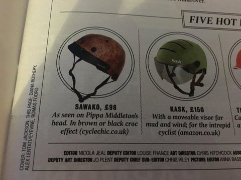The times magazine featuring sawako brown crocodile helmet