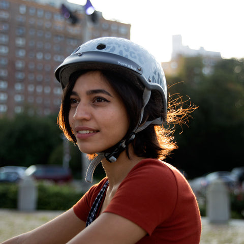 cycling outdoor with madison grey helmet
