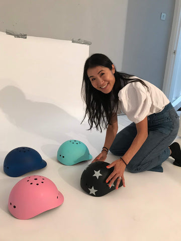sawako the founder of sawako helmet with kids range