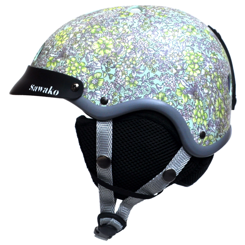 Floral Green Ski - Sawako: The stylish helmets
