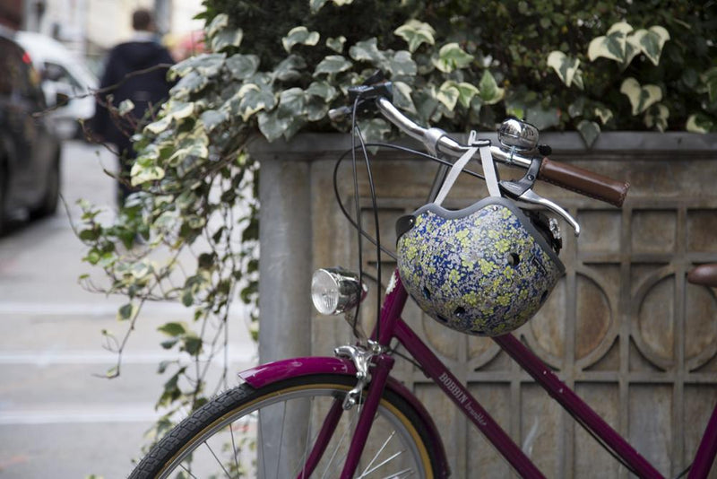 Floral Midnight Blue - Sawako: The stylish helmets