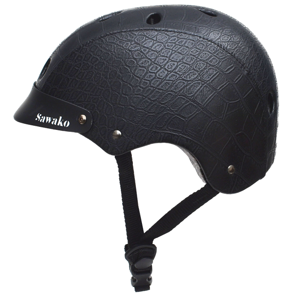 Crocodile Black (20% off) - Sawako: The stylish helmets