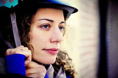 Sawako eyecandy female ladies bike helmet 30% off blue model