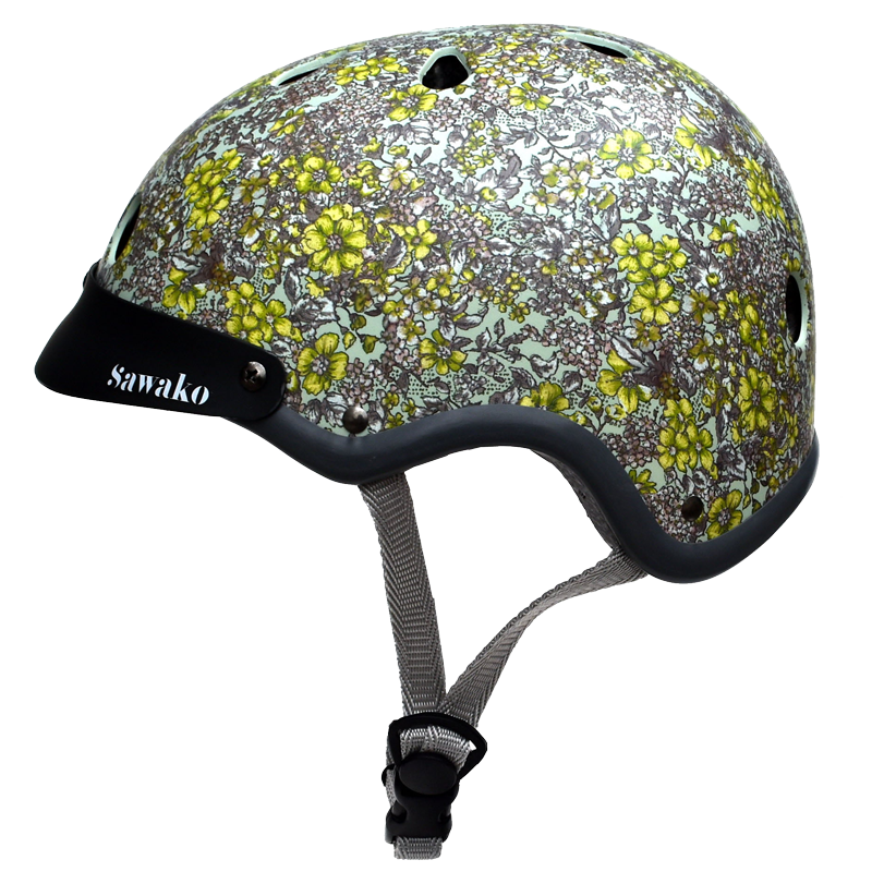 Floral Green - Sawako: The stylish helmets
