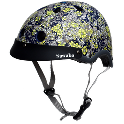 Floral Midnight Blue (30% off) - Sawako: The stylish helmets