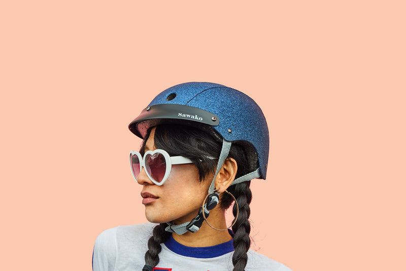 Navy Glitter - Sawako: The stylish helmets