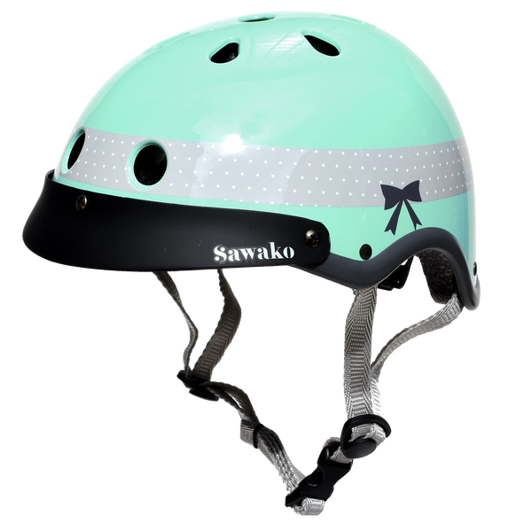 Ribbon Green - Sawako: The stylish helmets