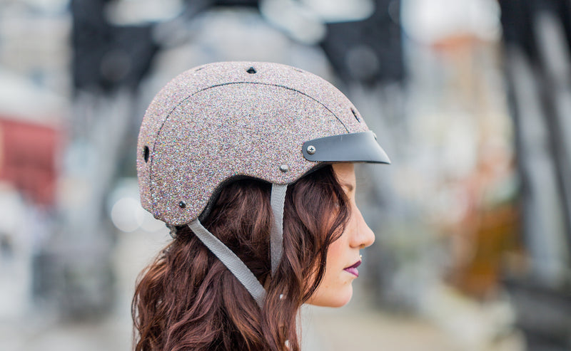 stylish sparkle glitter bicycle helmet