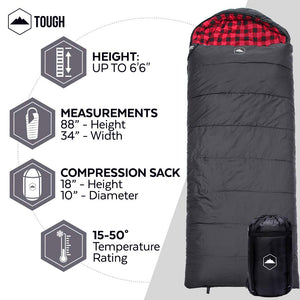 All Season Hooded XL Sleeping Bag