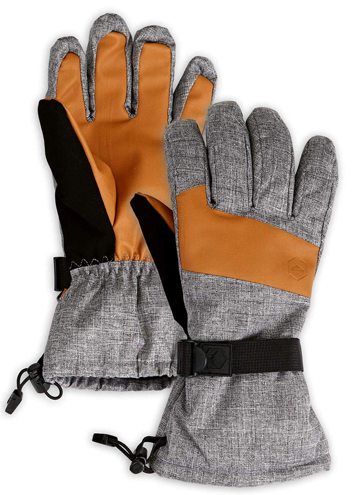 Oak Leather Grip Ski Gloves