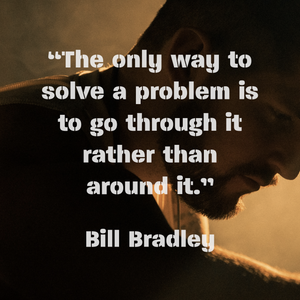 The only way to solve a problem...