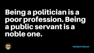 Being A Public Servant....
