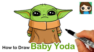 How to Draw Baby Yoda 🎥