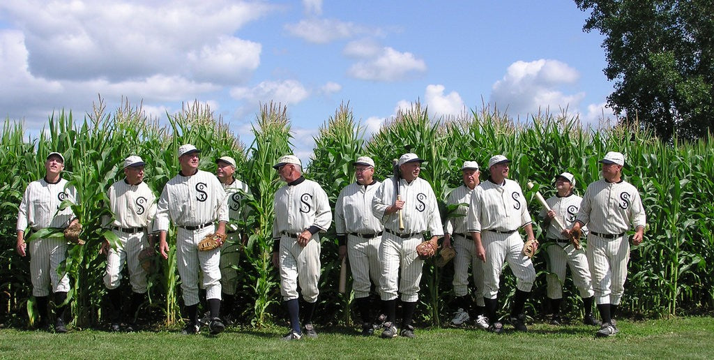 Construction underway for MLB game at Field of Dreams