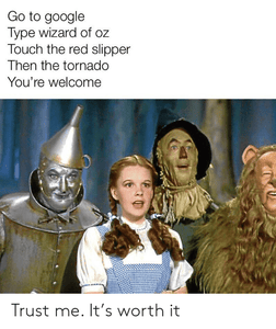 Wizard of Oz Google Trick