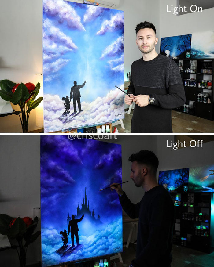 These 30 Dazzling Paintings Come To Life When You Turn Off The Lights 🔗